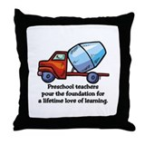 Preschool Teacher Gift Ideas Throw Pillow