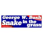 Bush Snake in the Grass Bumper Sticker
