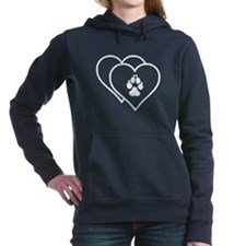 Two Hearts Love Animals Logo Women's Hooded Sweats