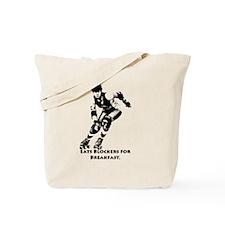 Eats Blockers for Breakfast. Tote Bag