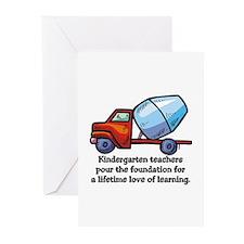 Kindergarten Teacher Gifts Greeting Cards (Package