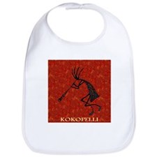 Kokopelli Red Coral and Turqu Bib