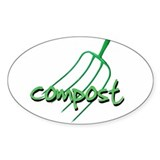 compost Oval Bumper Stickers