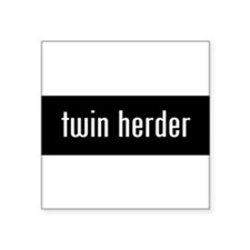 "Unique Twin dad Square Sticker 3"" x 3"""