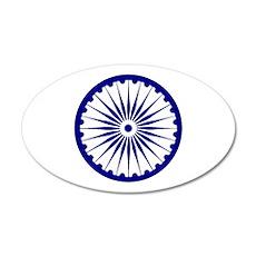 Ashoka Chakra 35x21 Oval Wall Decal