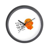 Gandhi G - Pop - Be The Chang Wall Clock