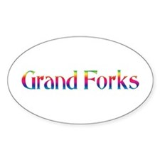 Grand Forks Oval Decal