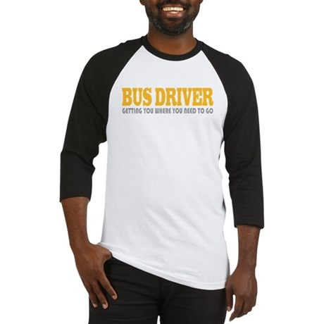Funny Bus Driver Baseball Jersey