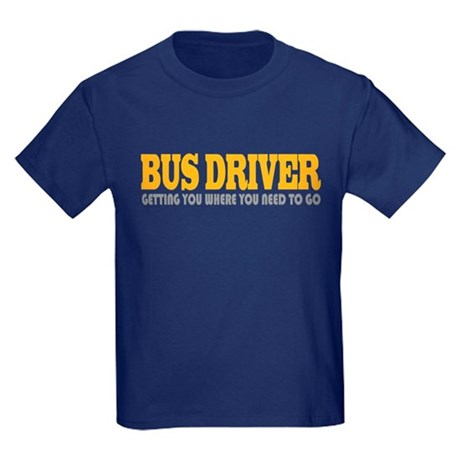 Funny Bus Driver Kids Dark T-Shirt