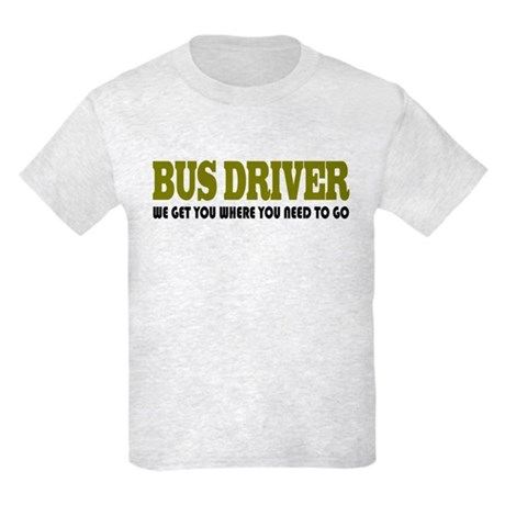 Funny Bus Driver Kids Light T-Shirt
