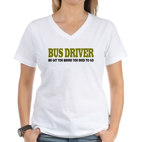 Funny Bus Driver Women's V-Neck T-Shirt