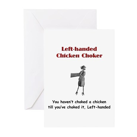 LH Chicken Choker Greeting Cards (Pk of 10)