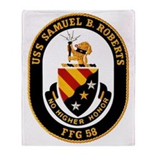 Uss Samuel B. Roberts Ffg-58 Throw Blanket