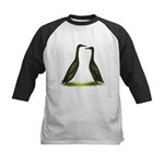 Black Runner Ducks Kids Baseball Jersey