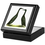 Black Runner Ducks Keepsake Box