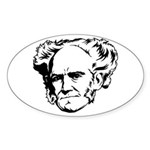 Strk3 Schopenhauer Oval Sticker