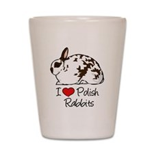 Cute Rabbit breeds Shot Glass