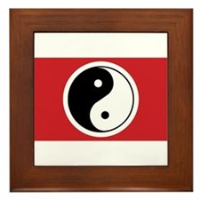 Yin Yang Flag Framed Tile