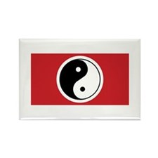 Yin Yang Flag Rectangle Magnet (100 pack)