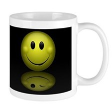 Chubby Smiley Face Reflection Coffee Mug