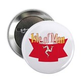 Isle of Man flag ribbon Button