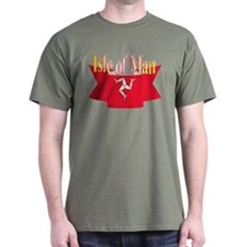 Isle of Man flag ribbon T-Shirt