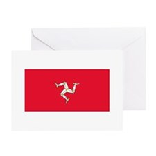 Flag of Isle of Man Greeting Cards (Pk of 10)