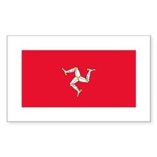 Flag of Isle of Man Rectangle Decal