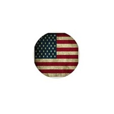 USA Flag - Grunge Mini Button