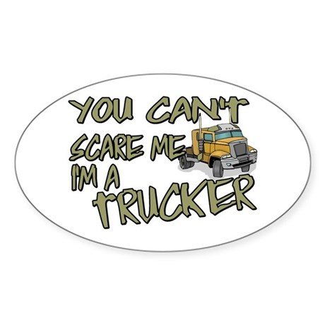 No Fear Trucker Oval Sticker