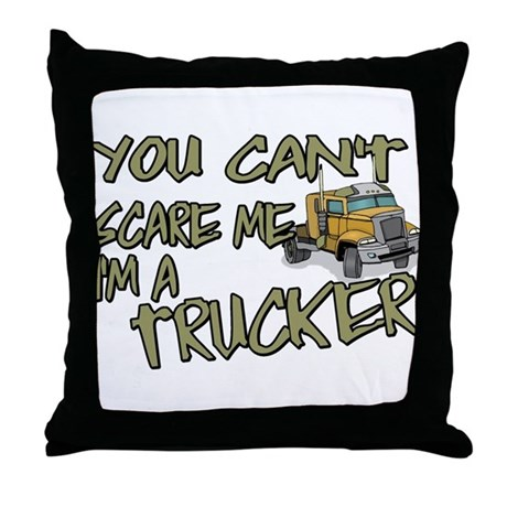 No Fear Trucker Throw Pillow