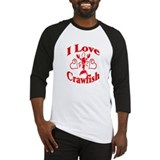 I Love Crawfish Baseball Jersey