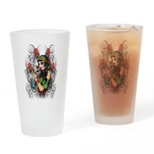 Candy Rose Skull Drinking Glass
