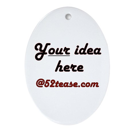 Personalized Customized Oval Ornament