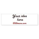 Personalized Customized Bumper Sticker