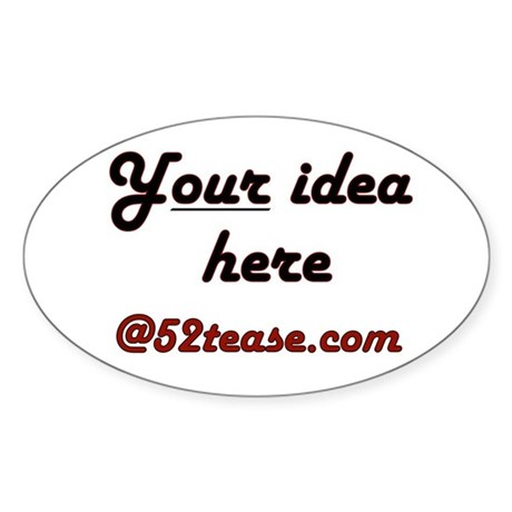 Personalized Customized Oval Sticker