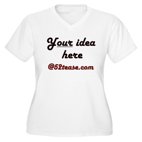 Personalized Customized Women's Plus Size V-Neck T