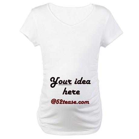 Personalized Customized Maternity T-Shirt