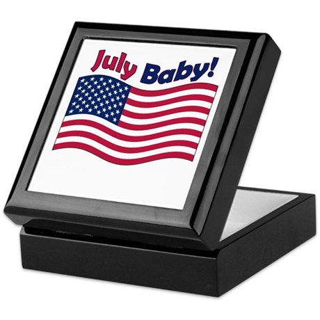 July Baby Keepsake Box