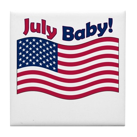 July Baby Tile Coaster