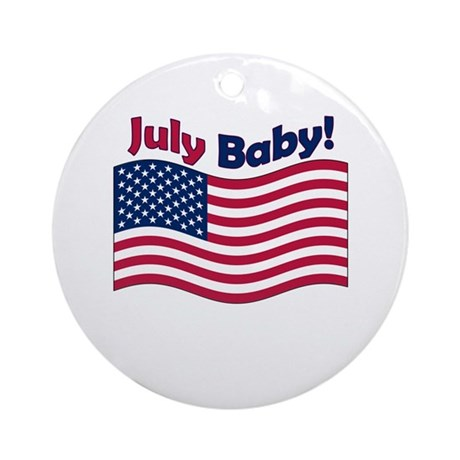 July Baby Ornament (Round)