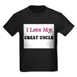 I LOVE MY GREAT-UNCLE Kids Dark T-Shirt