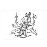 Ganesha - Hindu Diety Postcards (Package of 8)