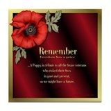 Remember Poppy Tile Coaster