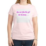 You Can Take The Girl Out Of Jersey Pink T-Shirt