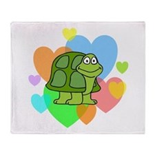 Turtle Hearts Throw Blanket