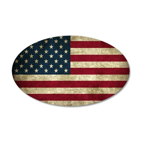 USA Flag - Grunge Wall Decal