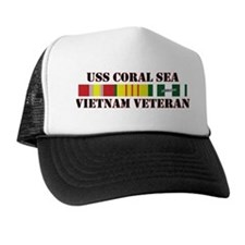 Vietnam Veteran USS Coral Sea Trucker Hat