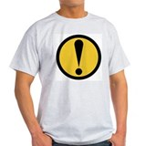CAUTION! Skater Ash Grey T-Shirt
