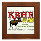 KBHR, Cicely, Alaska Framed Tile